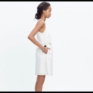 Madewell White open back dress